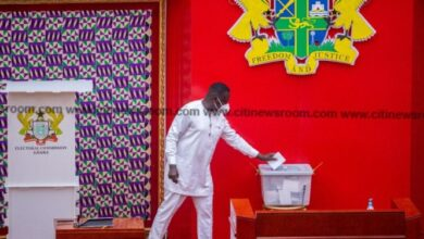 Photo of Assin North MP casts ballot to choose Speaker of Parliament despite court injunction