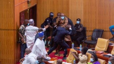 Photo of Carlos Ahenkorah snatches ballot papers during Speaker of Parliament election [Photos]