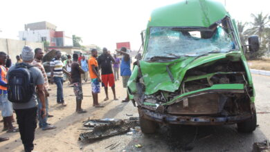 Photo of Several persons injured in accident at Labadi Beach road