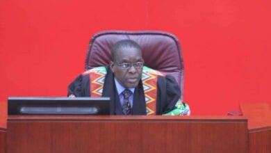 Photo of Alban Bagbin elected Speaker of 8th Parliament