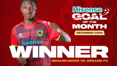 Photo of Imoro Ibrahim wins Asante Kotoko goal of the month for December