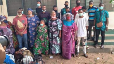 Photo of 19 Illegal Nigerian Immigrants Intercepted at Ho Central Lorry Station