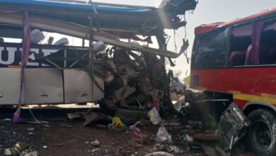Photo of 17 dead, 44 passengers injured in crash involving two buses on Buipe-Tamale road