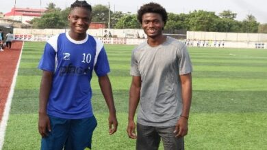 Photo of Great Olympics sign sons of Stephen Appiah and Laryea Kingston