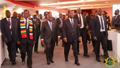 Photo of Akufo-Addo in Cote d'Ivoire for funeral of prime minister Hamed Bakayoko