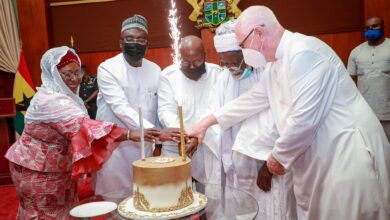 Photo of Akufo-Addo, Bawumia, Father Campbell hold Iftar with Chief Imam at Jubilee House