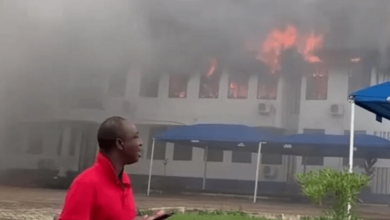 Photo of Fire destroys Mampong Technical administration block