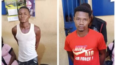 Photo of 2 suspects arrested for burning 64-year-old woman in North East Region