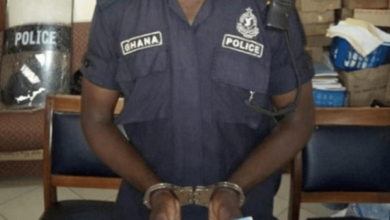 Photo of Policeman grabbed over GH¢100,000 police recruitment scam