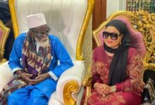 Photo of Repented Nana Agradaa Visits Chief Imam For Blessings – Photos