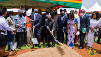 Photo of Akufo-Addo cuts sod for construction of Phase 1 of Law School Village