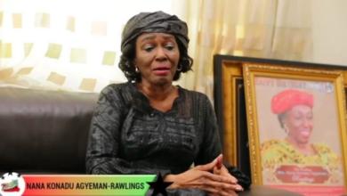 Photo of Nana Konadu thanks Ghanaians for giving her husband a befitting burial