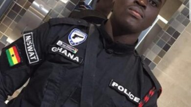 Photo of Photos Of Police Officer Shot Dead In Daylight Bullion Van Robbery In Ghana Surfaces