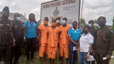 Photo of Three convicts regain freedom at Koforidua Prisons