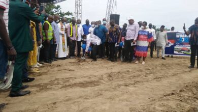Photo of VOLTA NPP CUTS SOD FOR THE CONSTRUCTION OF A NEW REGIONAL OFFICE COMPLEX IN HO