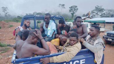 Photo of Taskforce arrests 24 illegal miners, burns mining equipment
