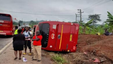 Photo of The deadly overtaking involving a Hyundai Accent and VIP bus at Juaso that claimed 2 lives