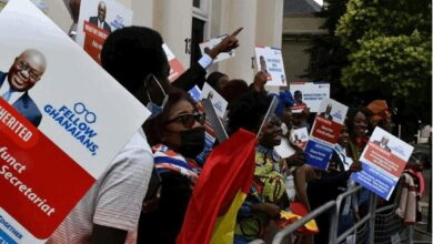 Photo of Some Ghanaians in UK embark on walk to laud Akufo-Addo government