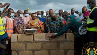 Photo of Akufo-Addo cuts sod for 100-Bed Obuasi Trauma & Accident Hospital