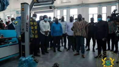 Photo of Nana Addo commissions engineering workshops at Cape Coast Technical University