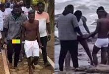 Photo of Shatta Wale and Medikal go for 'sea bath ritual' after release from prison (WATCH)